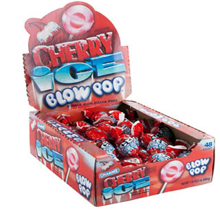 Cherry Ice Blow Pops - 48ct Box