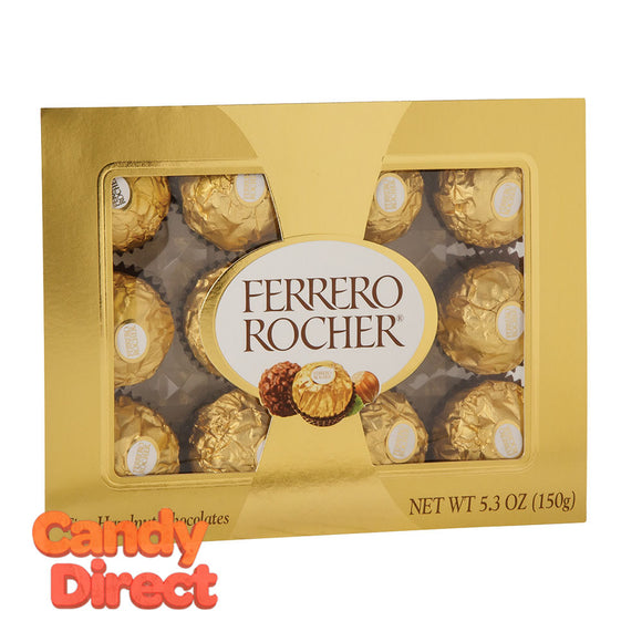 Ferrero Rocher Chocolate 12 Pc 5.3oz Box - 12ct