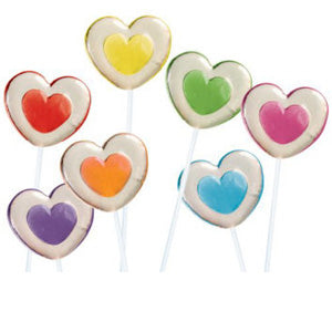 Two-Tone Heart Twinkle Pops - 120ct