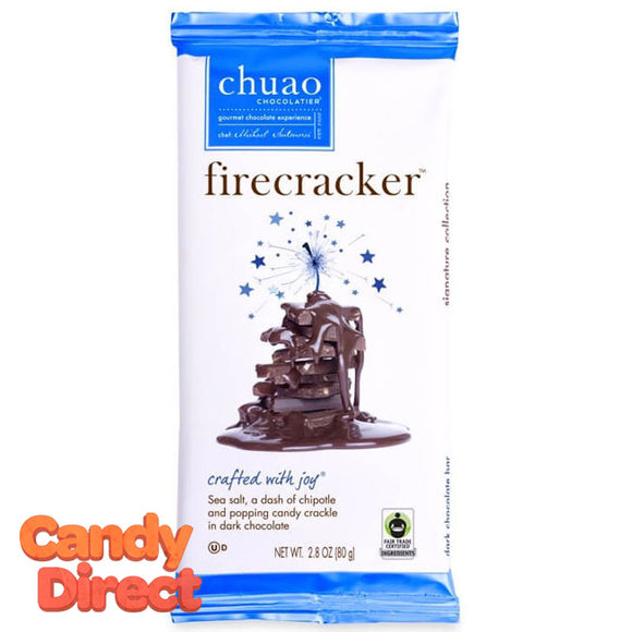 Firecracker Chuao Dark Chocolate Bars - 12ct