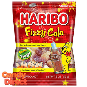 Fizzy Cola Bottles Haribo Gummi Candy 5oz Bag - 12ct