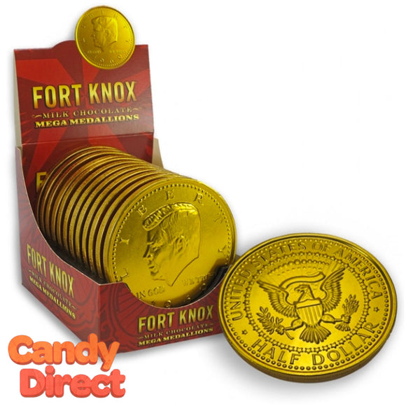 Fort Knox Mega Medallions Chocolates - 12ct