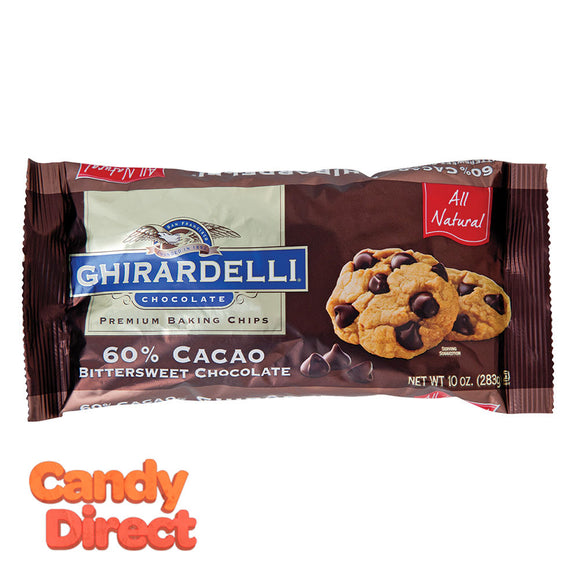 Ghirardelli Bag 60% Double Chocolate Chips 10oz - 12ct