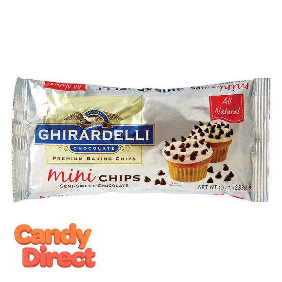 Ghirardelli Baking Chips Mini Semi-Sweet 10oz Bag - 12ct
