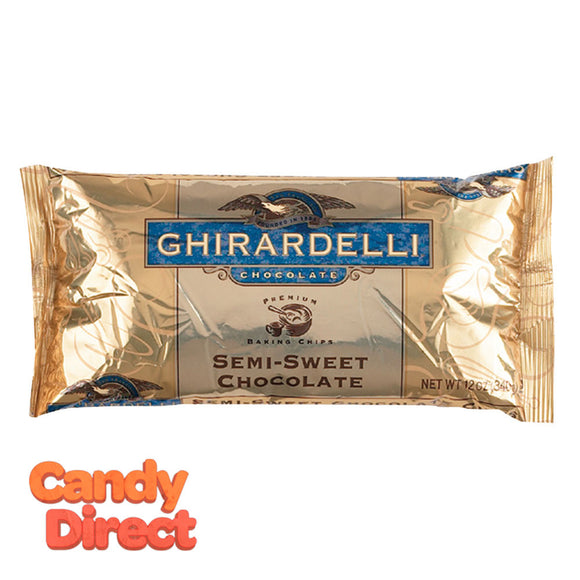 Ghirardelli Baking Chips Semi-Sweet 12oz Bag - 12ct