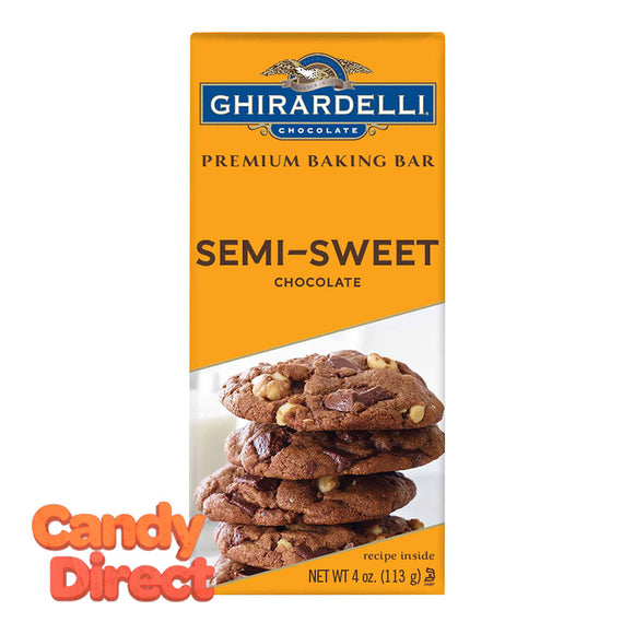 Ghirardelli Baking Semi-Sweet 4oz Bar - 12ct