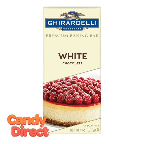 Ghirardelli Baking White Chocolate 4oz Bar - 12ct