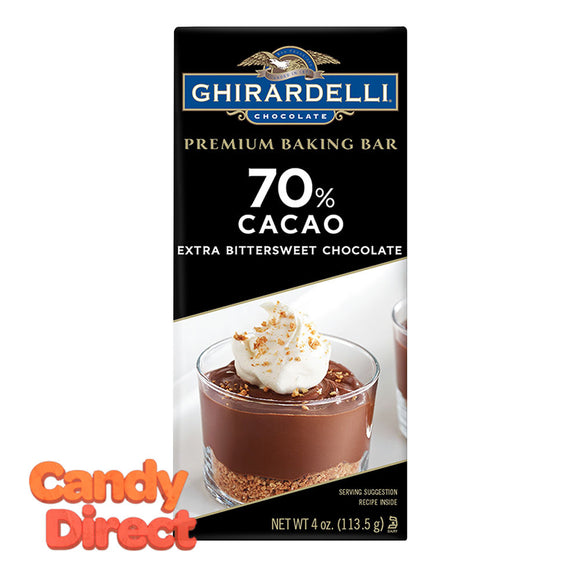 Ghirardelli Bars 70% Cacao Baking 4oz - 12ct