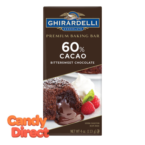 Ghirardelli Bars Bittersweet Baking 4oz - 12ct