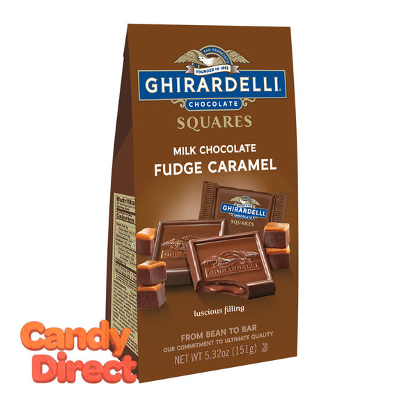 Ghirardelli Fudge Caramel Filled Squares Milk Chocolate 5.3oz Bag - 6ct