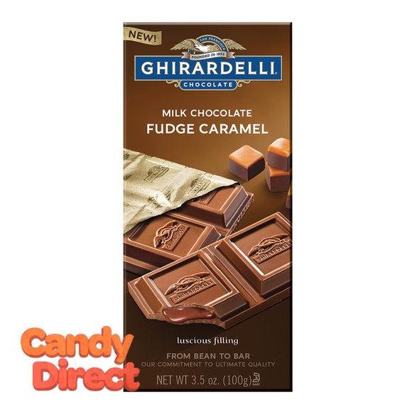 Ghirardelli Fudge Caramel Milk Chocolate 3.5oz Bar - 12ct