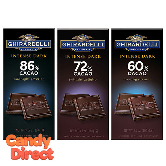 Ghirardelli Intense Dark Chocolate Bars - 12ct
