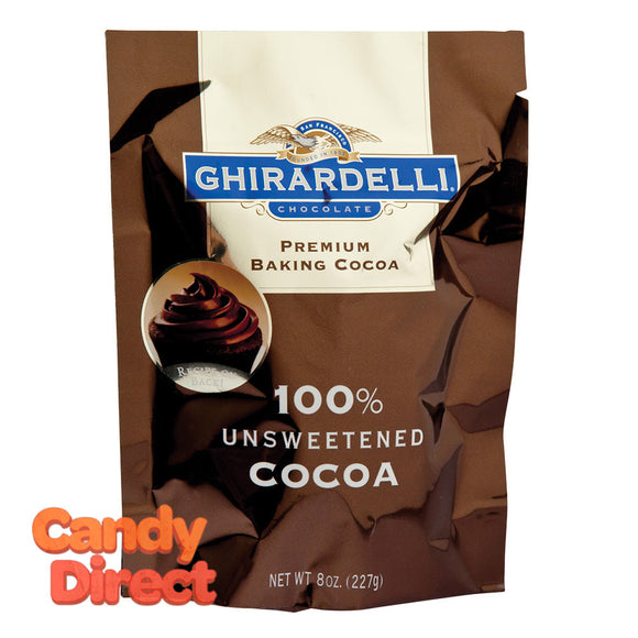 Ghirardelli Pouch 100% Unsweetened Baking Cocoa 8oz - 6ct