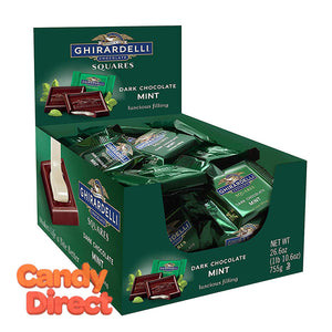 Ghirardelli Squares - Dark Chocolate With Mint 50ct
