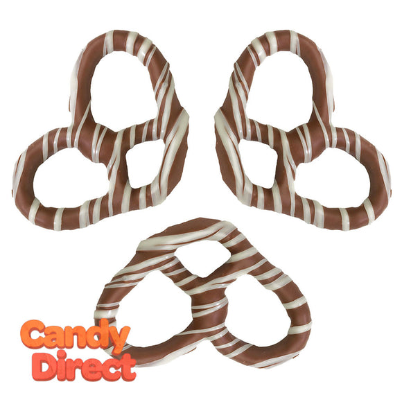Giambri's White Stripes Covered Pretzel Milk Chocolate - 3lbs