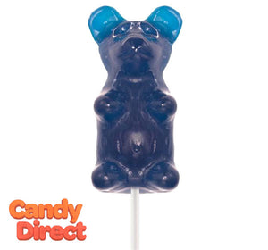 Giant Gummy Bears Raspberry on a Stick - 12ct
