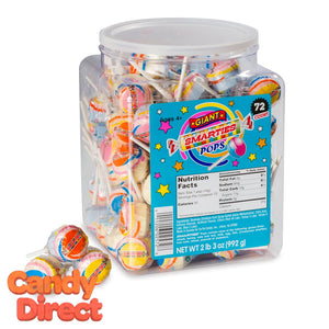 Giant Smarties Pops - 72ct Tub