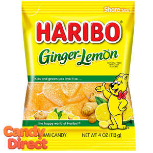 Ginger Lemon Haribo Gummi Candy 5oz Bag - 12ct