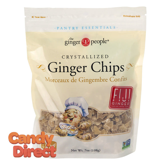 Ginger People Baking Chips Crystallized Ginger 7oz Pouch - 12ct