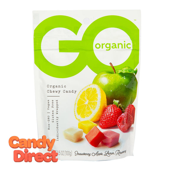 Go Assorted Fruit Chews Organic 3.5oz Pouch - 6ct