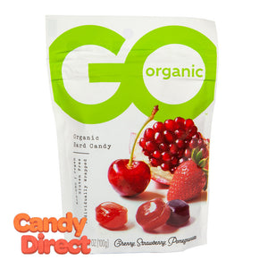 Go Assorted Fruit Hard Candy Organic 3.5oz Pouch - 6ct