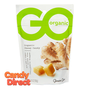 Go Ginger Chews Chewy Candy Organic 3.5oz Pouch - 6ct