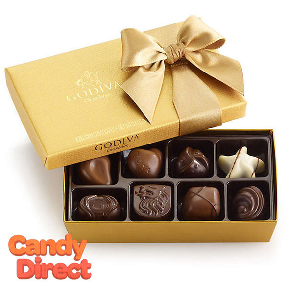 Godiva 8-Piece Gold Gift Box Assorted - 24ct