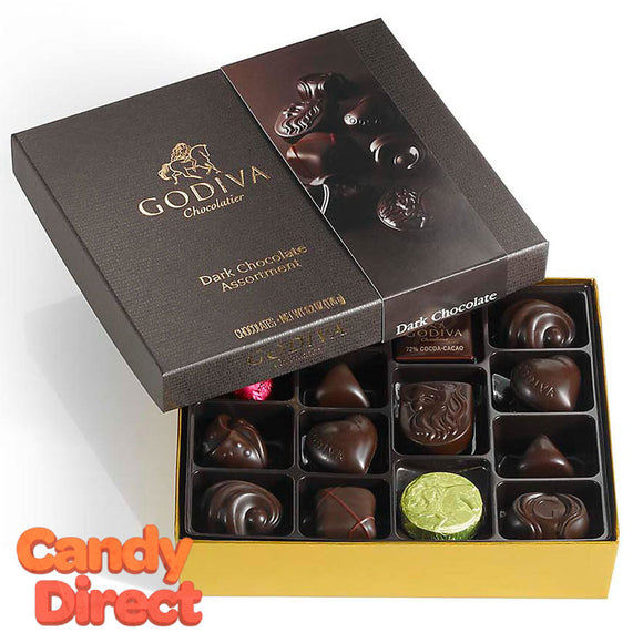 Godiva Gift Box Dark Chocolate 16pc - 12ct