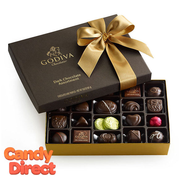 Godiva Gift Box Dark Chocolate 27pc - 12ct