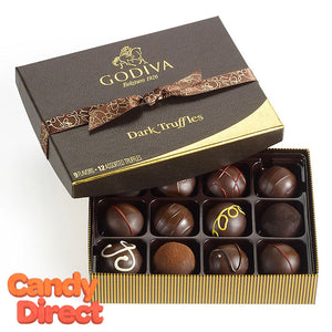 Godiva Gift Box Dark Chocolate Truffles 12pc