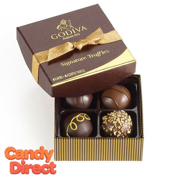 Godiva Gift Box Signature Truffles 4-Piece - 12ct