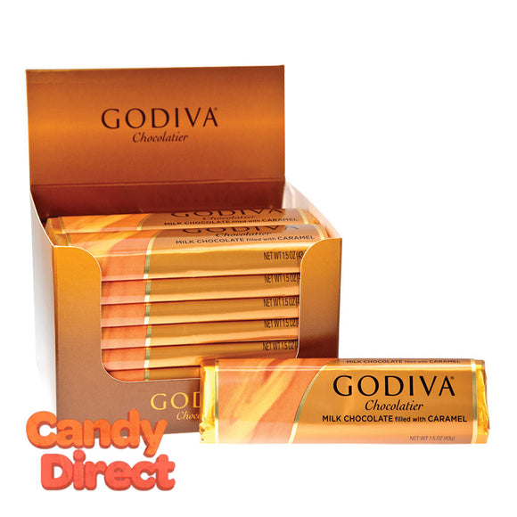Godiva Milk Chocolate Filled With Caramel 1.5oz Bar - 24ct