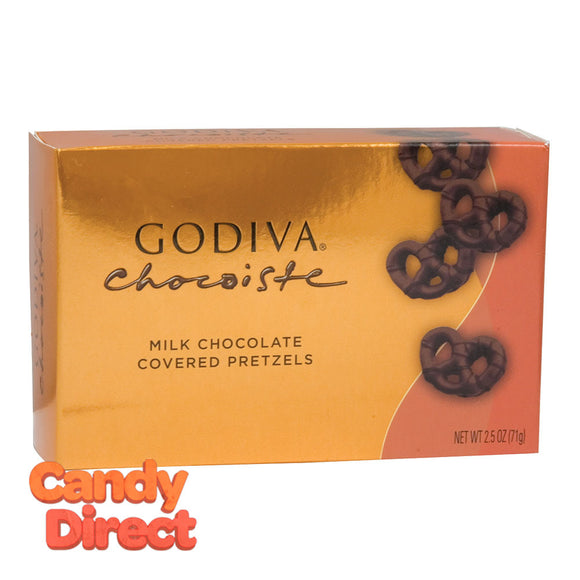 Godiva Mini Milk Chocolate Covered Pretzels 2.5oz Box - 10ct