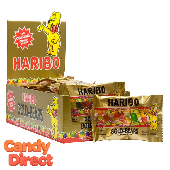 Gold Bears Haribo Gummi Candy 2oz Bags - 24ct