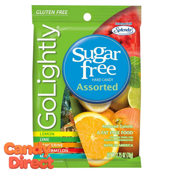 GoLightly Sugar Free Assorted Candy Bags - 12ct
