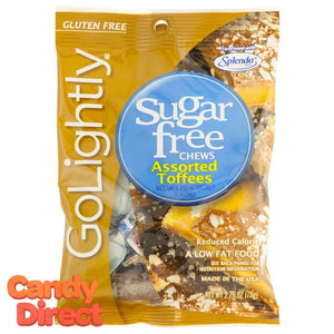 GoLightly Sugar Free Toffees - 12ct