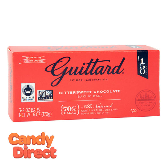 Guittard Baking Bar Bittersweet Chocolate 6oz Box - 12ct