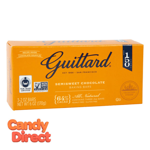 Guittard Baking Bar Semi Sweet Chocolate 6oz Box - 12ct