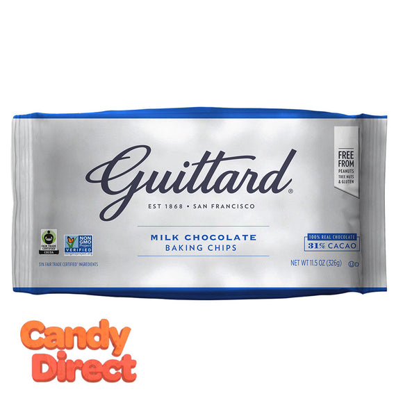 Guittard Baking Chips Milk Chocolate 11.5oz Bag - 12ct