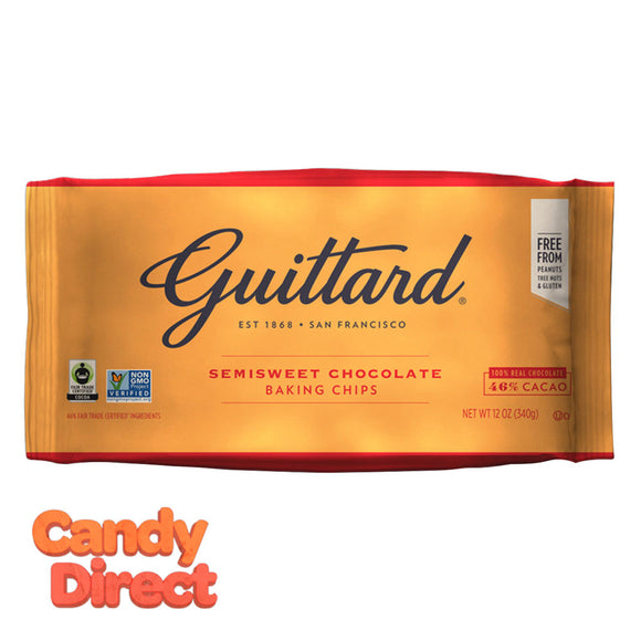 Guittard Chips Semisweet Chocolate 12oz Bag - 12ct
