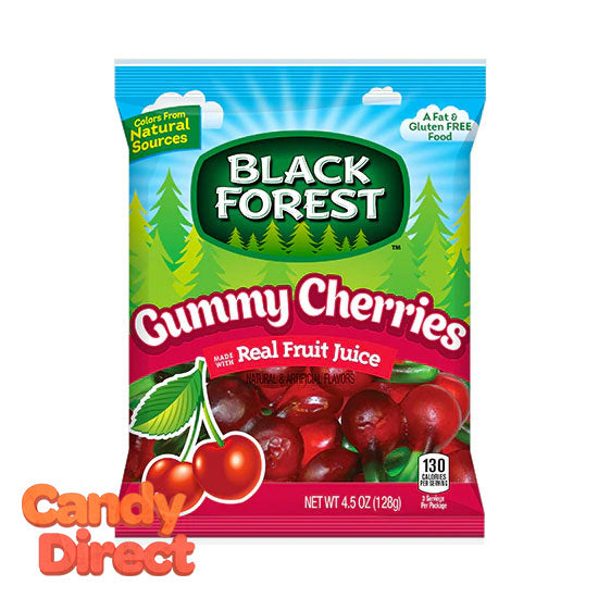 Gummy Cherries Black Forest - 12ct