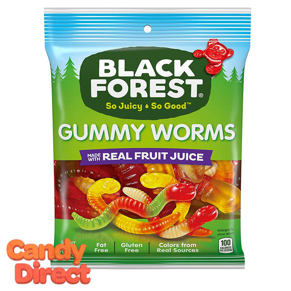 Gummy Worms Black Forest - 12ct