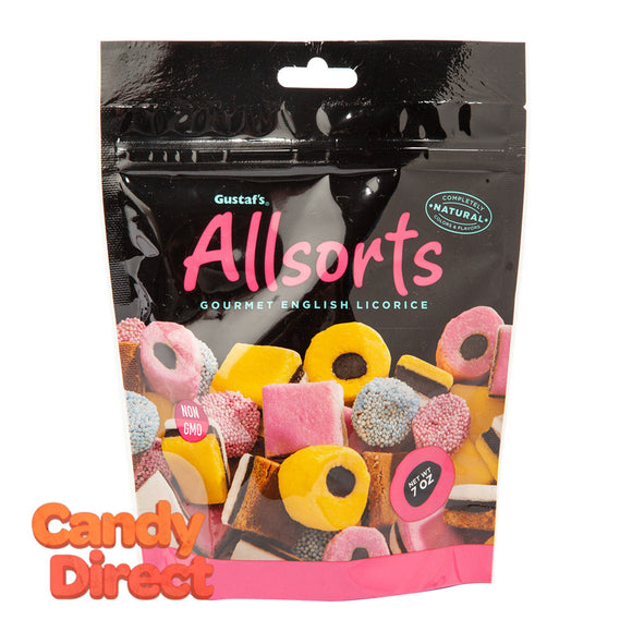 Gustaf's Allsorts Licorice 7oz Pouch - 12ct