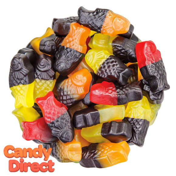 Gustaf's Neon Gummies Licorice Fruit Fish - 6.6lb