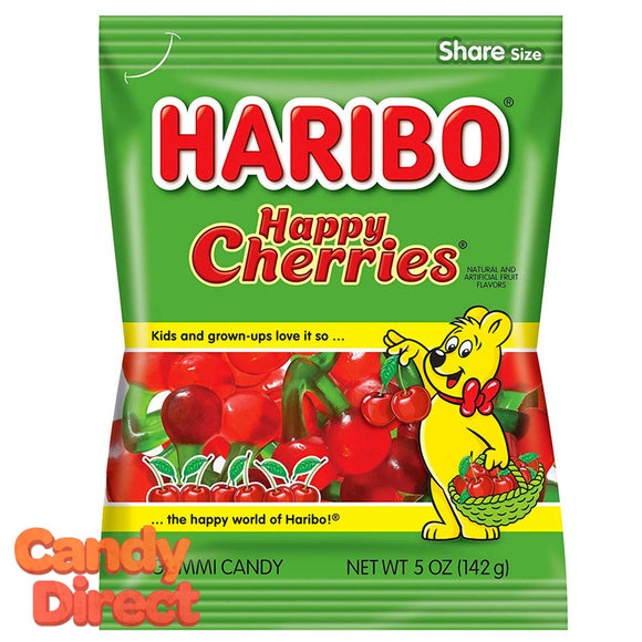 Happy Cherries Haribo Gummi Candy 5oz Bag - 12ct