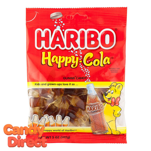 Happy Cola Bottles Haribo Gummi Candy 5oz Bags - 12ct