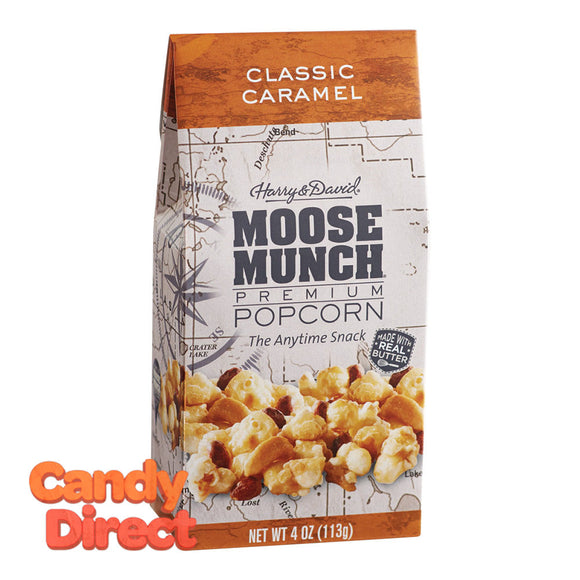 Harry & David Munch Popcorn Classic Caramel Moose 4.5oz Gable Box - 6ct
