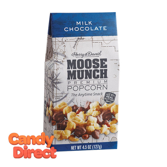 Harry & David Munch Popcorn Milk Chocolate Moose 4.5oz Gable Box - 6ct