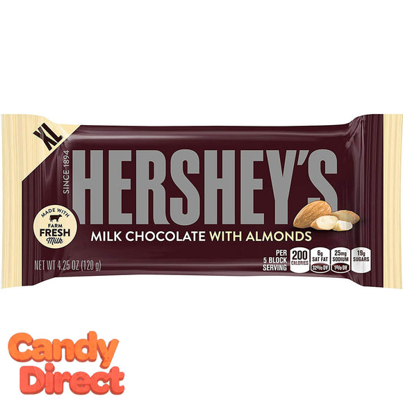Hershey Milk Chocolate Bar with Almond XL - 12ct