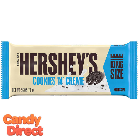 Cookies N Creme Hershey's Bar Kingsize - 18ct